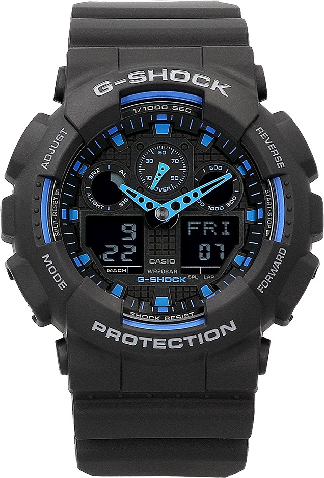 Zegarek męski Casio G-Shock GA-100-1A2ER czarny