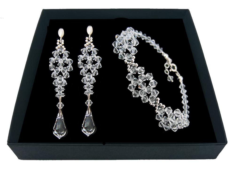 Set SWAROVSKI crystal silver sopelki 1844