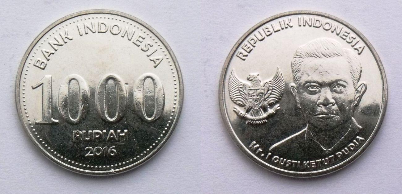 INDONEZJA 1000 RUPII 2016 MR GUSTI KETUT PUDJA UNC
