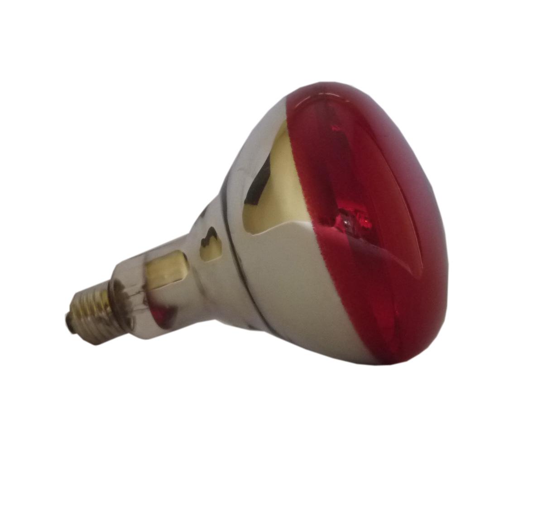 Lampa grzewcza promiennik kwoka żarówka 150W CZERW