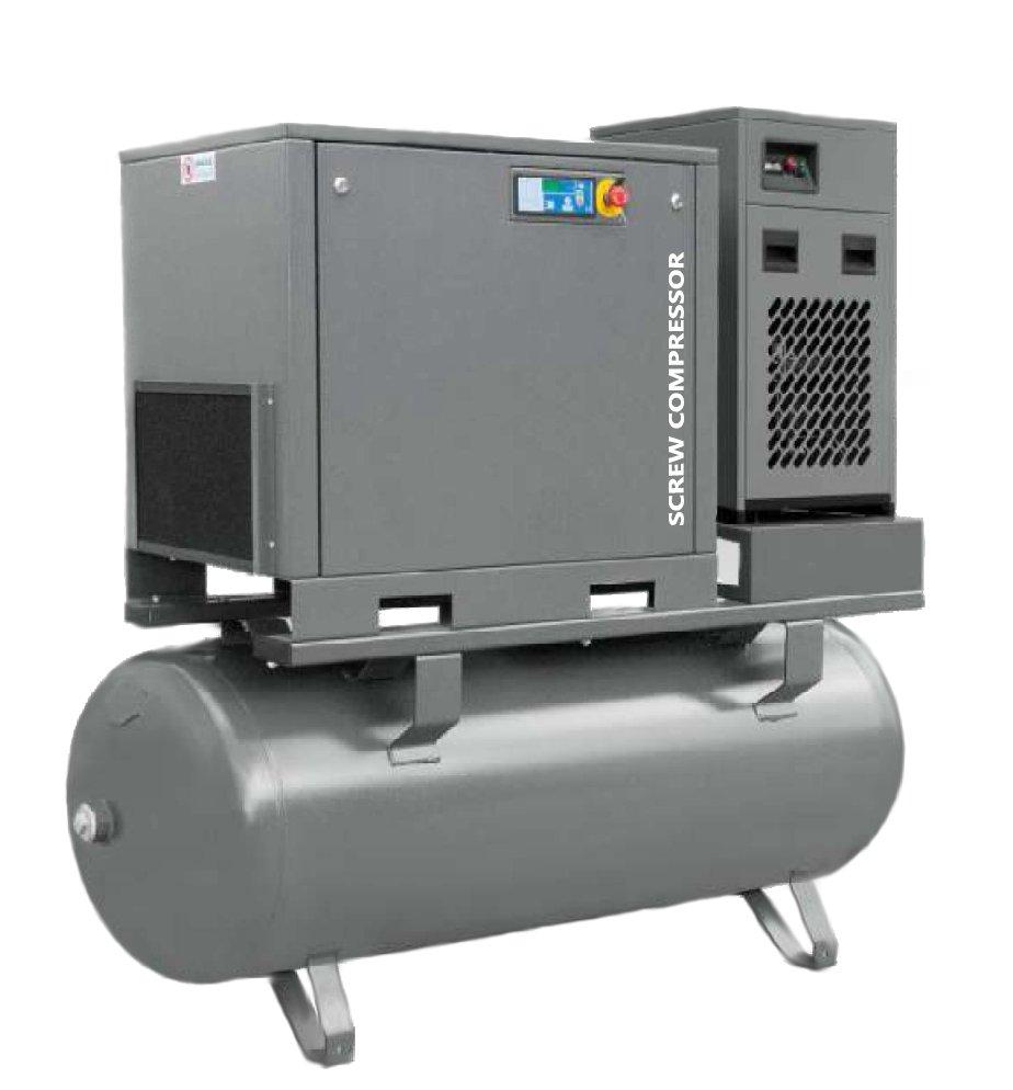 Kompresor Śrubowy 7,5 kW Zbiornik 500L Osuszacz