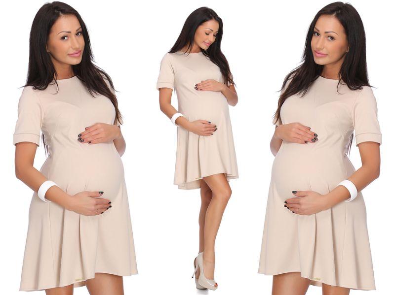 NATALIA trapezowa ciążowa sukienka _ M / 38