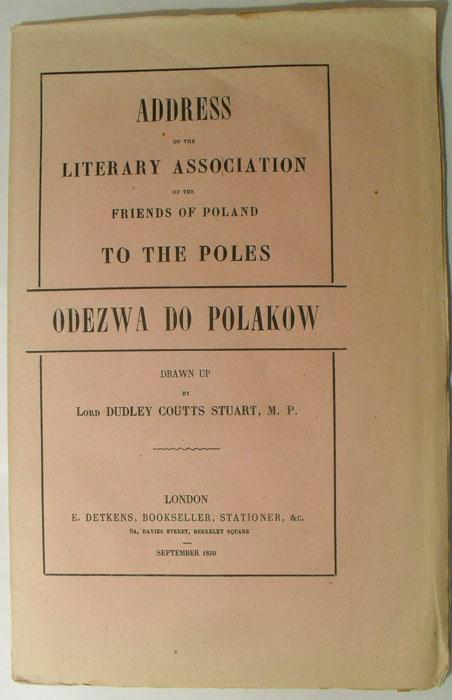 K015 Воззвание для Поляков Лондон 1850