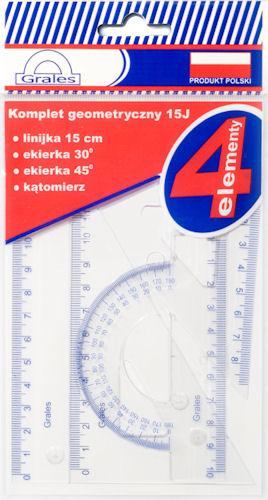 Item A set of geometric 4-pieces J15 9913