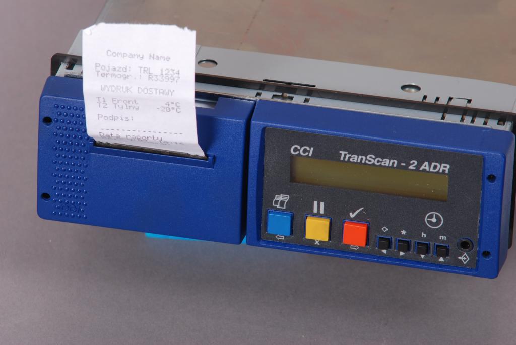 Termograf TRANSCAN 2R rejestrator temp. drukarka