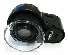 Pocket Lupa 45x Silné LED šperky 13102
