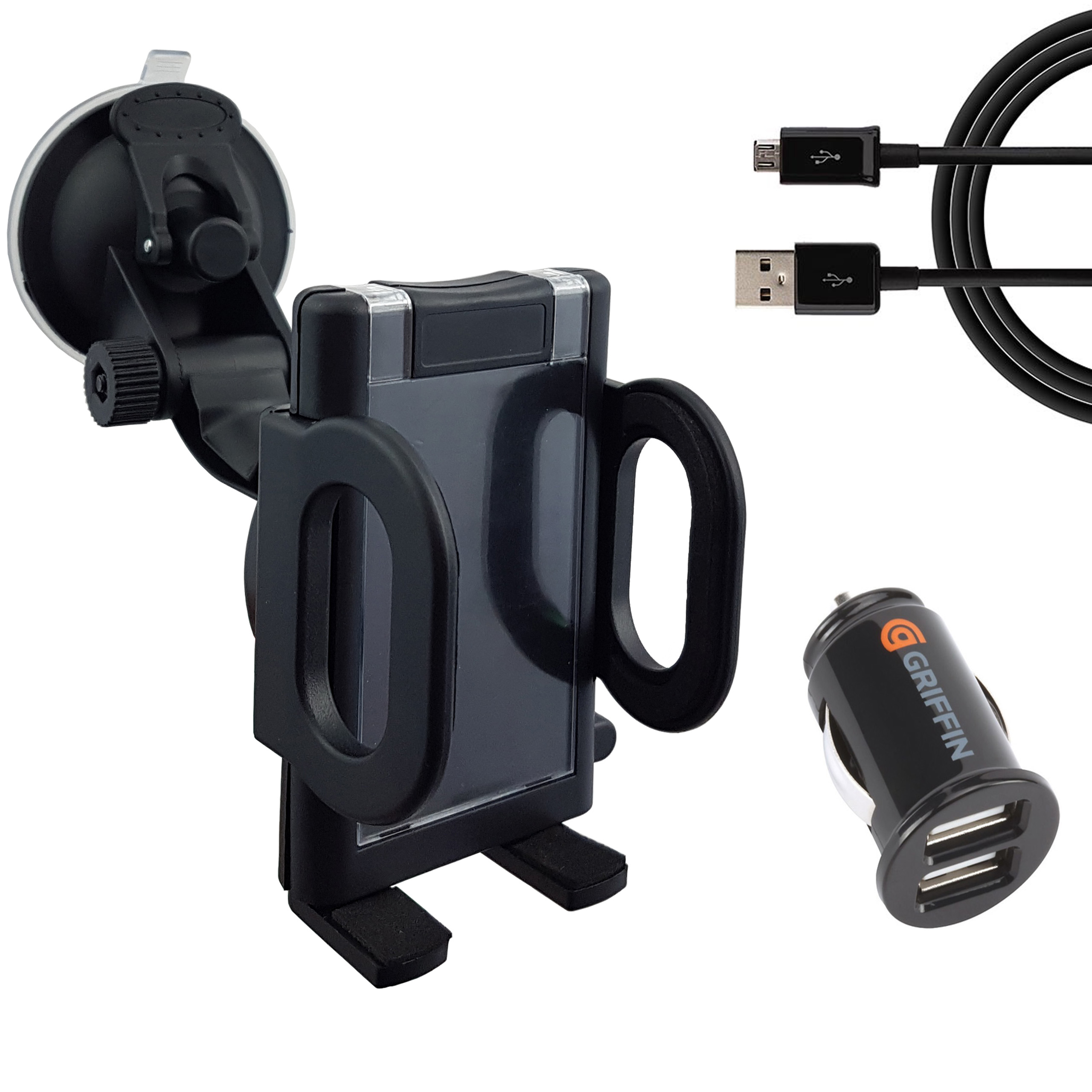Uchwyt samochodowy Ładowarka Usb 2,1A Micro USB294