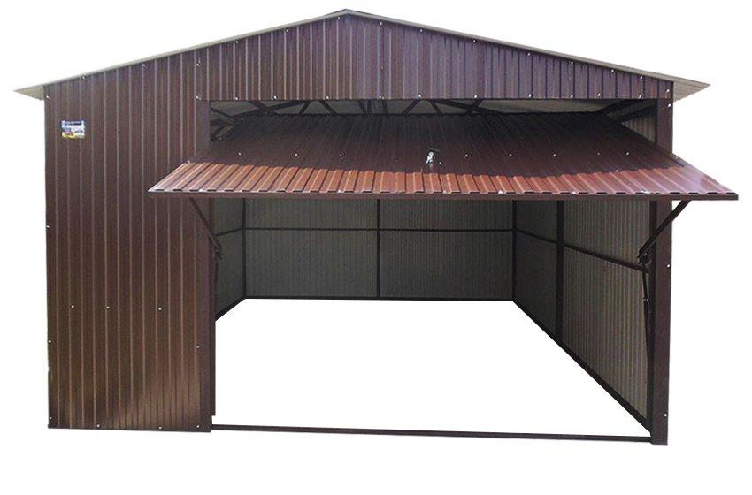 Стальные гаражи 4x5 Металлические пластины RAL 8017 Garage BROWN