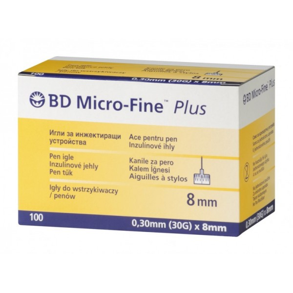 Ihly BD Micro-Fine Plus 30g 0,30 x 8 mm 100 kusov