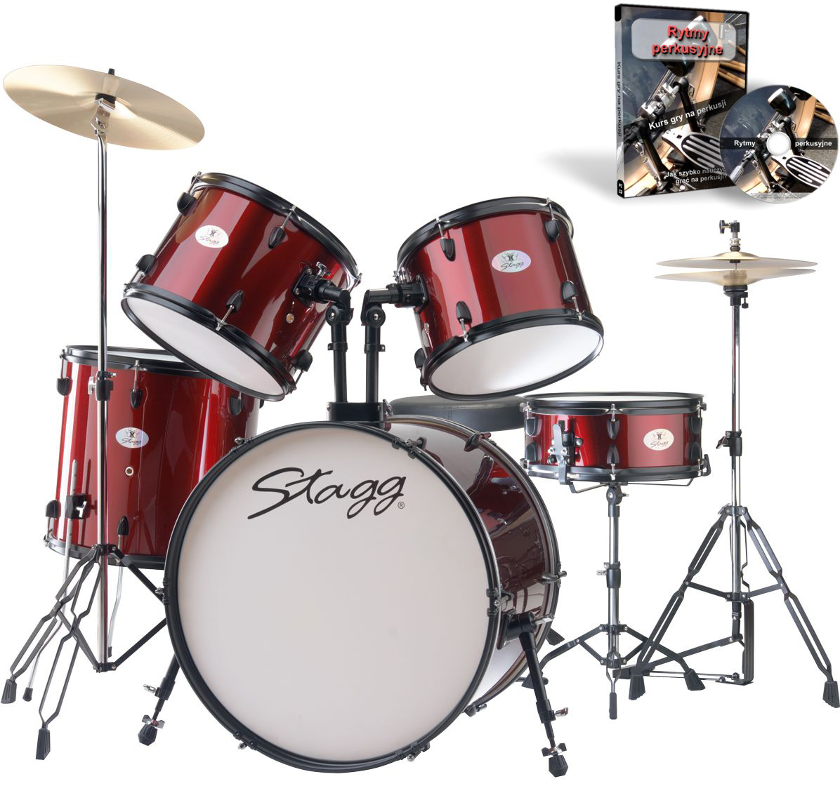 Item PROMOTION DRUMS STAGG TIM 122 CHERRY RED