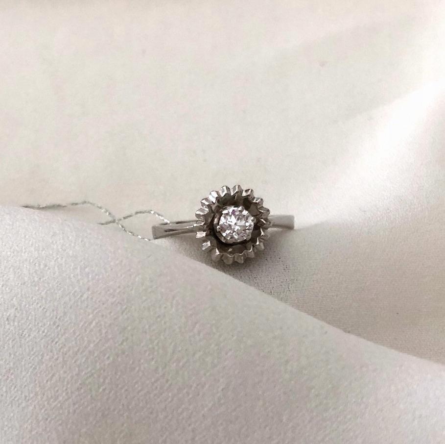 Prsteň biele zlato, diamant 0,24 ct