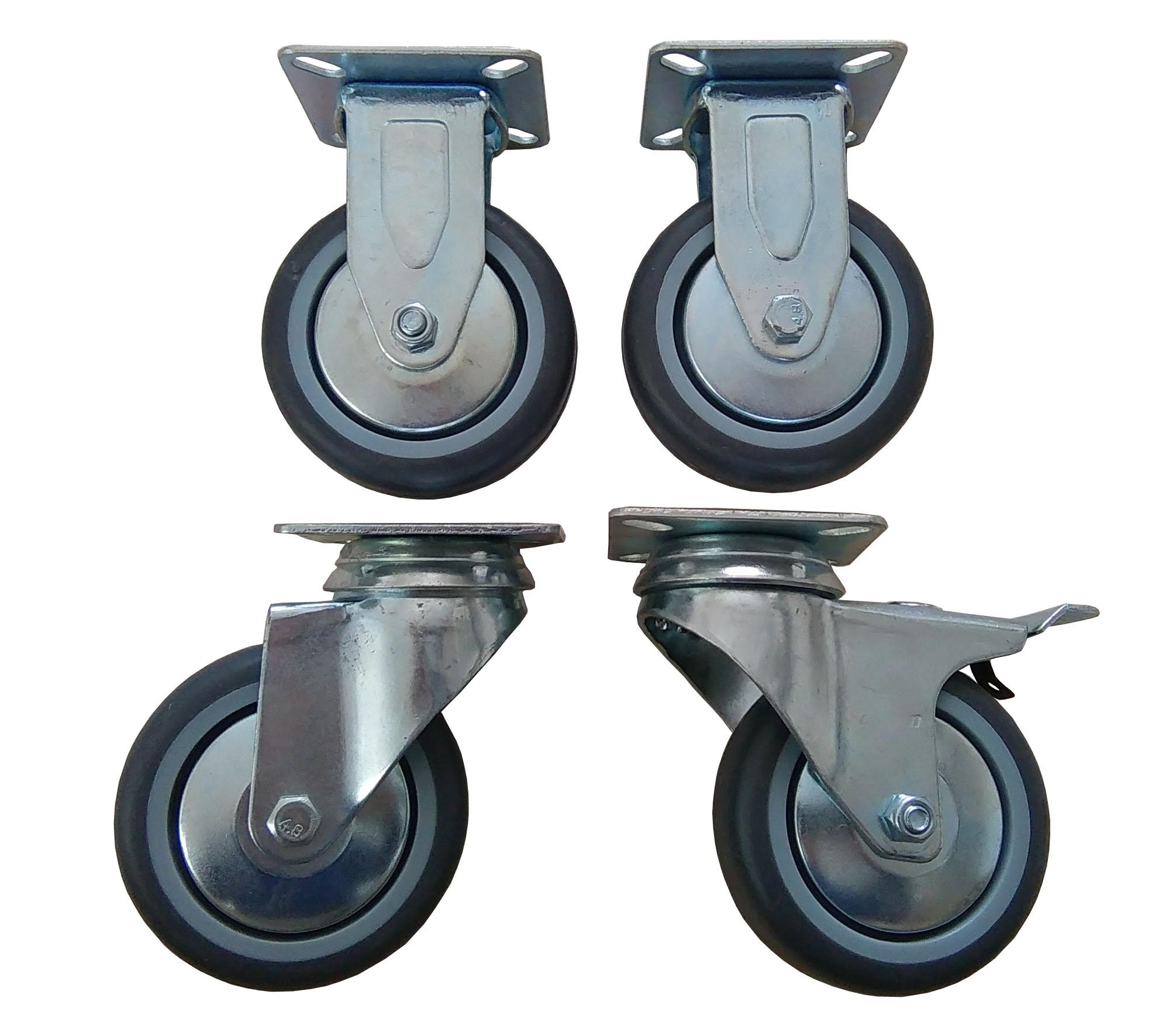 Kompletné 4 ks Kruh kolesa kolesa 75 mm 400 kg.