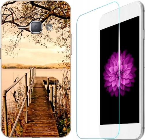 Etui Samsung Galaxy J1 2016 Pokrowiec Wzory+szkło