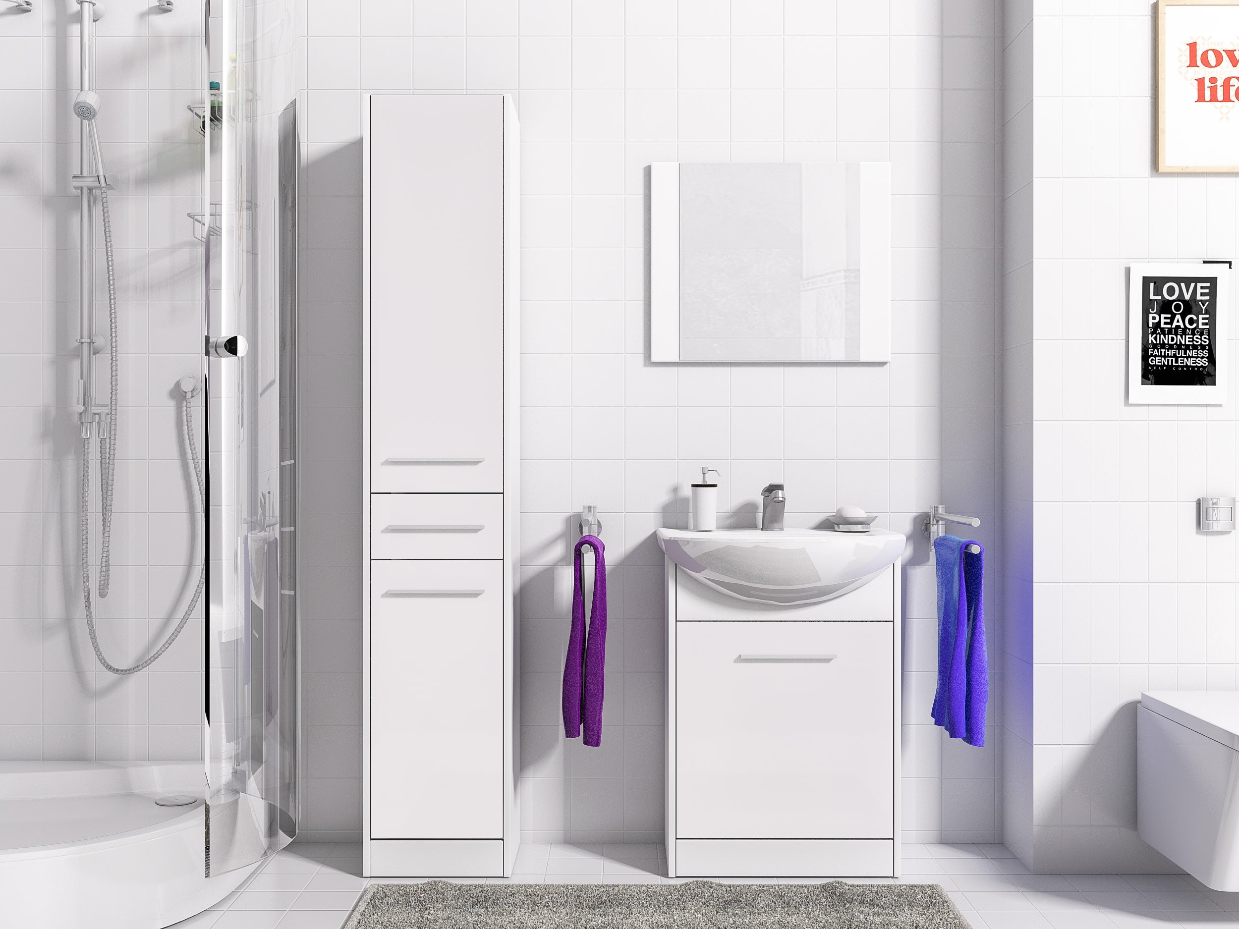Nábytok pre kúpeľňa NICO DLHO 2 zrkadlo MEBLOHAUS