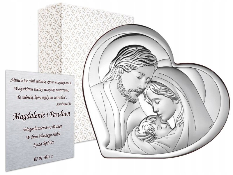Item SILVER DEPICTION OF THE HOLY FAMILY SOUVENIR, WEDDING, BAPTISM