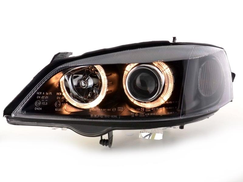 Lampy Opel Astra G Ii 2 Angel Eyes Black Fk W 24h Rzeszow Allegro Pl