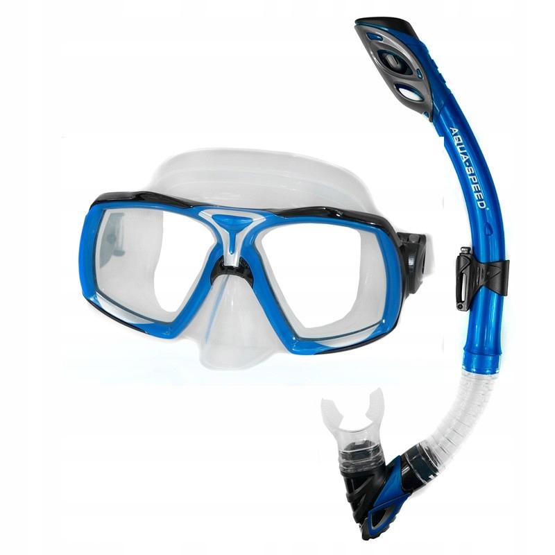 Aqua-Rýchlosť potápačský ŠNORCHEL + potápačská MASKA ŠNORCHEL