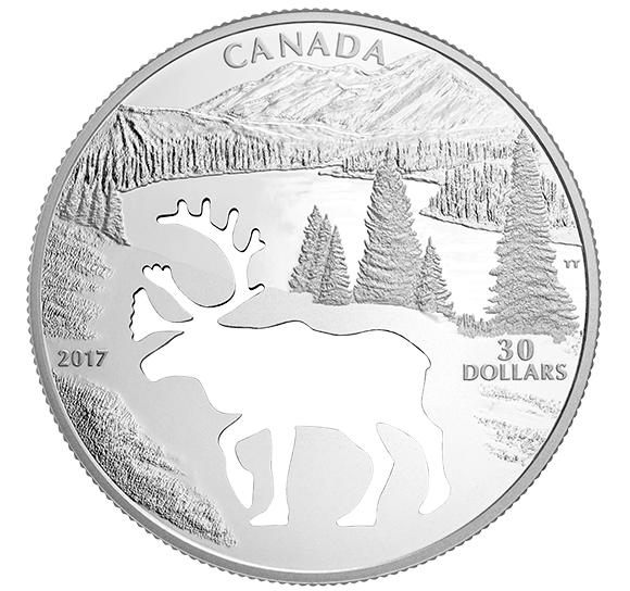 Kanada 2017 30 $ Ohrozené zvieratá Karibu * 1 *