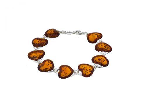 Srdce náramok Lux S 16 Koniakowym Amber