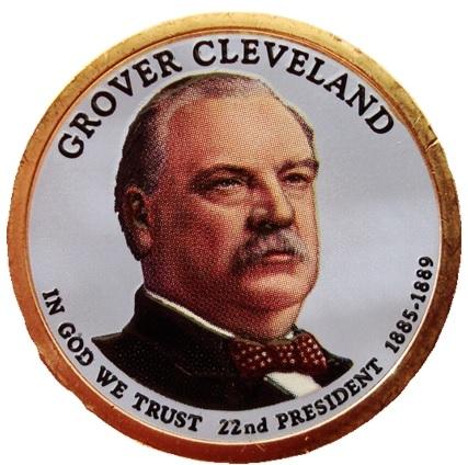 Grover Cleveland (1885-1889) 2012- obojstranná farba