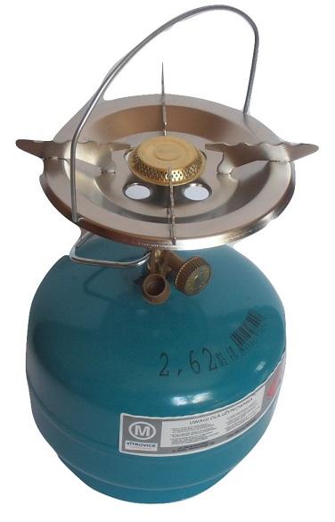 Plynový sporák Veľké Turistické+Valec Propán 2 kg