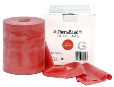 Theraband cvičiť pásku silná červená guma 1m