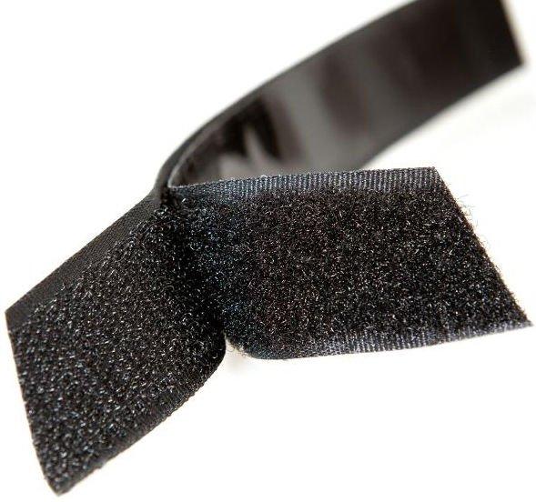 Item 20 mm VELCRO with ADHESIVE self-ADHESIVE BLACK WHITE 2 cm
