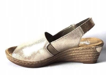 Rieker 62440-90 złote sandały espadryle 40 OBNIŻKA