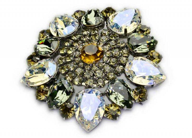 Brošňa Veľké Vintage Swarovski Diamond Darček
