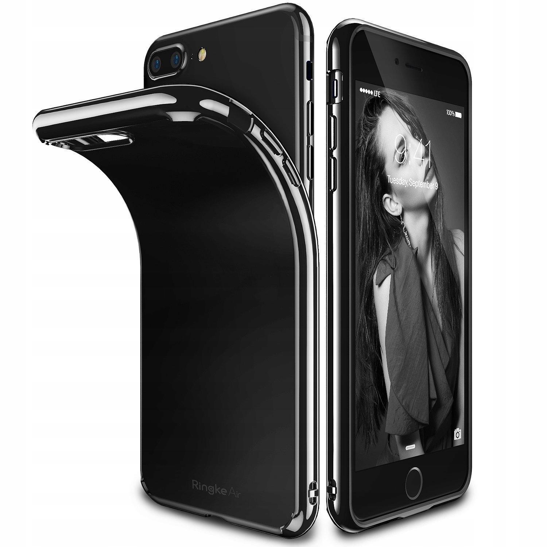 Etui Jet Black Ringke Air Do Iphone 7 Plus + Folia