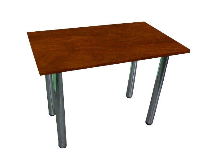 90x70cm kuchynský stôl nohy chróm, doskou 8 farieb