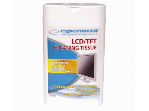 Item WET WIPES FOR MONITOR LCD TFT TV 100pcs