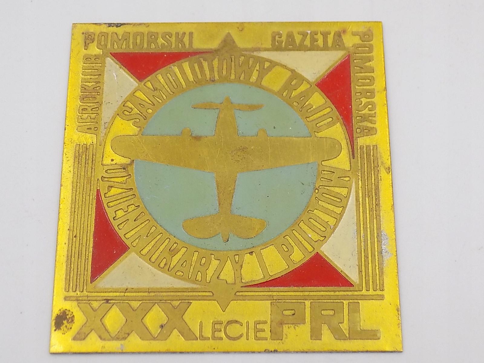 plakieta SAMOLOTOWY RAJD DZIENNIKARZY PRL