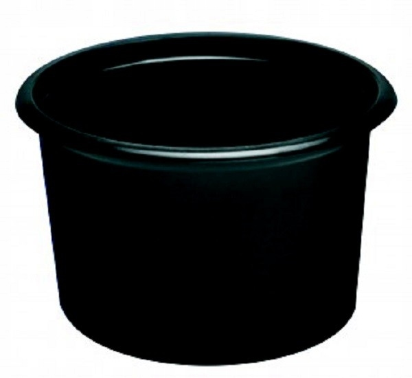 Pojemnik okrągły czarny 350ml do gorącego 50szt