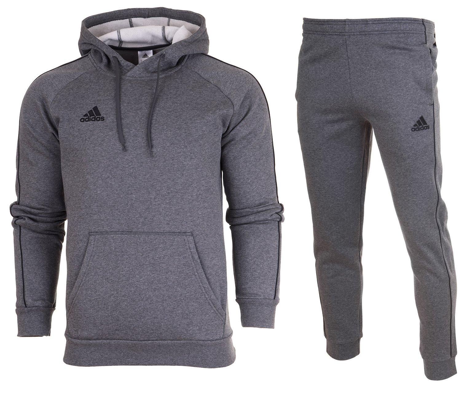 Adidas Dres Komplet JR Spodnie Bluza CORE18 r.128