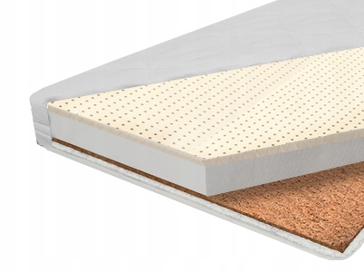 LATEKSOWO KOKOSOWY Materac do łóżeczka 120x60 12cm