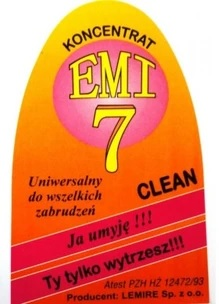 EMI 7 Kvapalina odstraňuje namočiť od všetkého po požiaroch