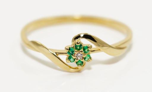 Krúžok gold 585 zelenými Zirkónmi, MOŽNOSŤ