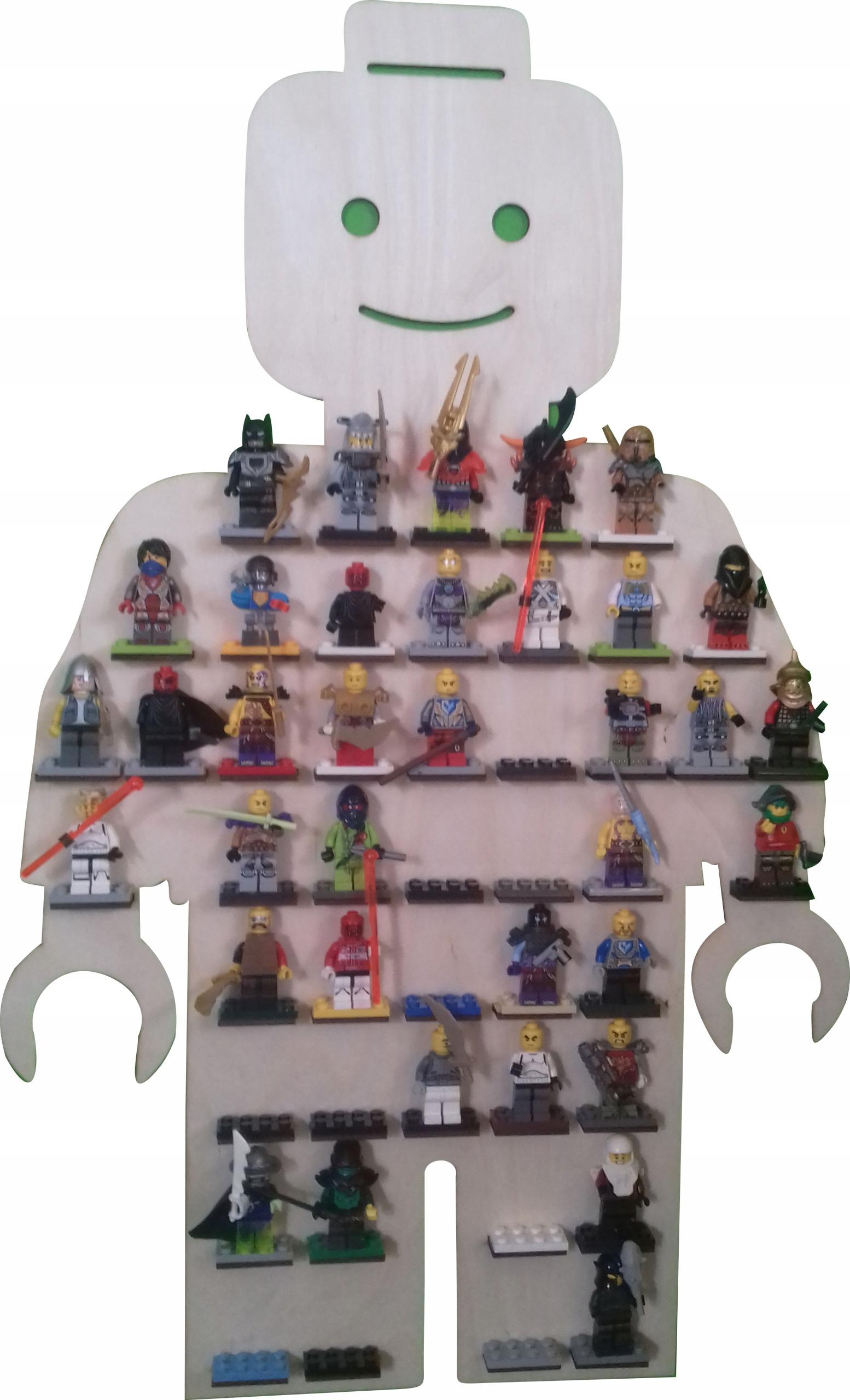 Полка стеллаж на колодки человечков подходят lego, cobi