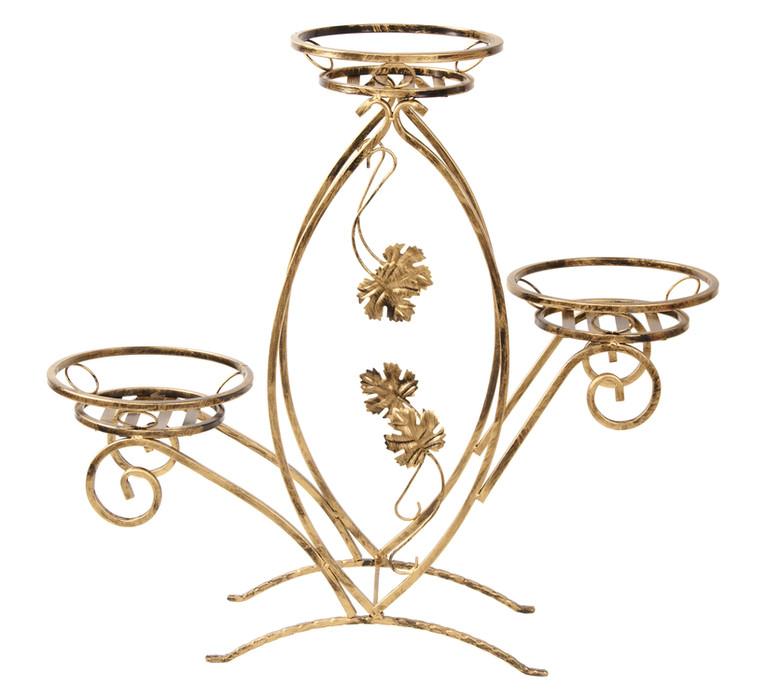 Kovový stojan na 3 kvety kované 86 cm 150