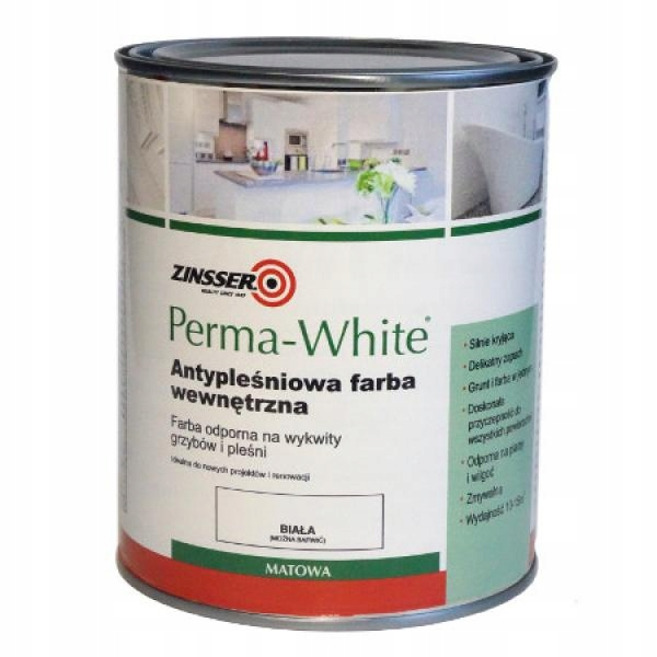 FARBA DO KUCHNI ŁAZIENKI PERMA-WHITE 0,96L