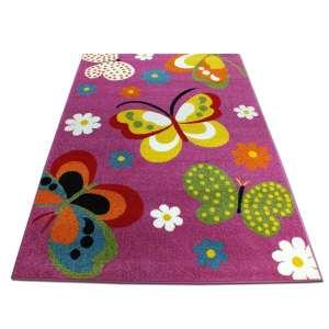 Koberec deti Motýľ fialová 200x290