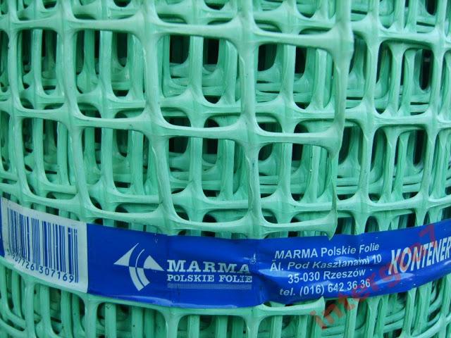 SIATKA RABATOWA plastikowa PCV ZIELONA 0,60x25m. Wysokość 60 cm