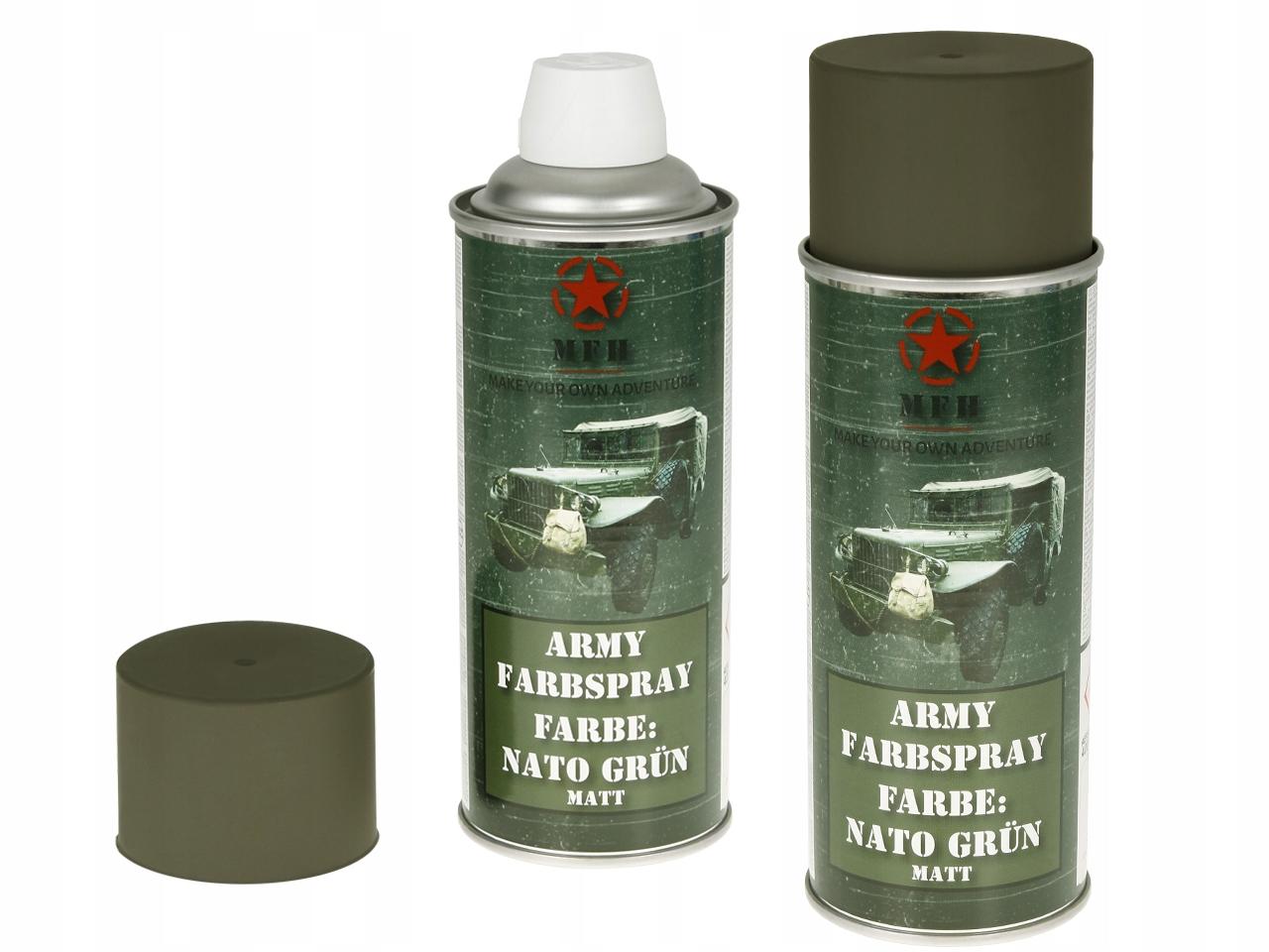 MFH FARBA WOJSKOWA SPRAY 400 мл НАТО Зеленый коврик