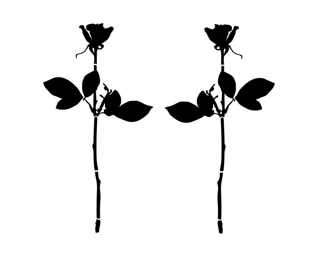 Nálepka auto Scooter Rose Depeche Mode 2 kusy