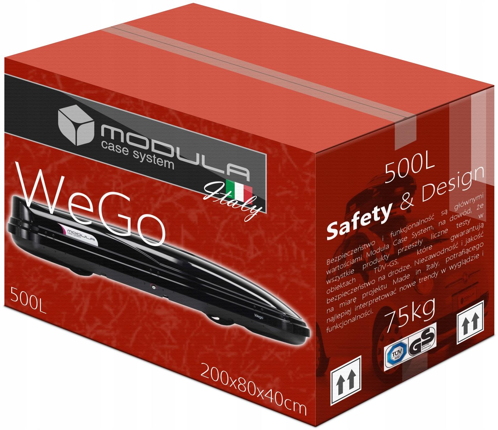 Коробка для крыши BOX MODULA WeGo 500L 200x80x40см