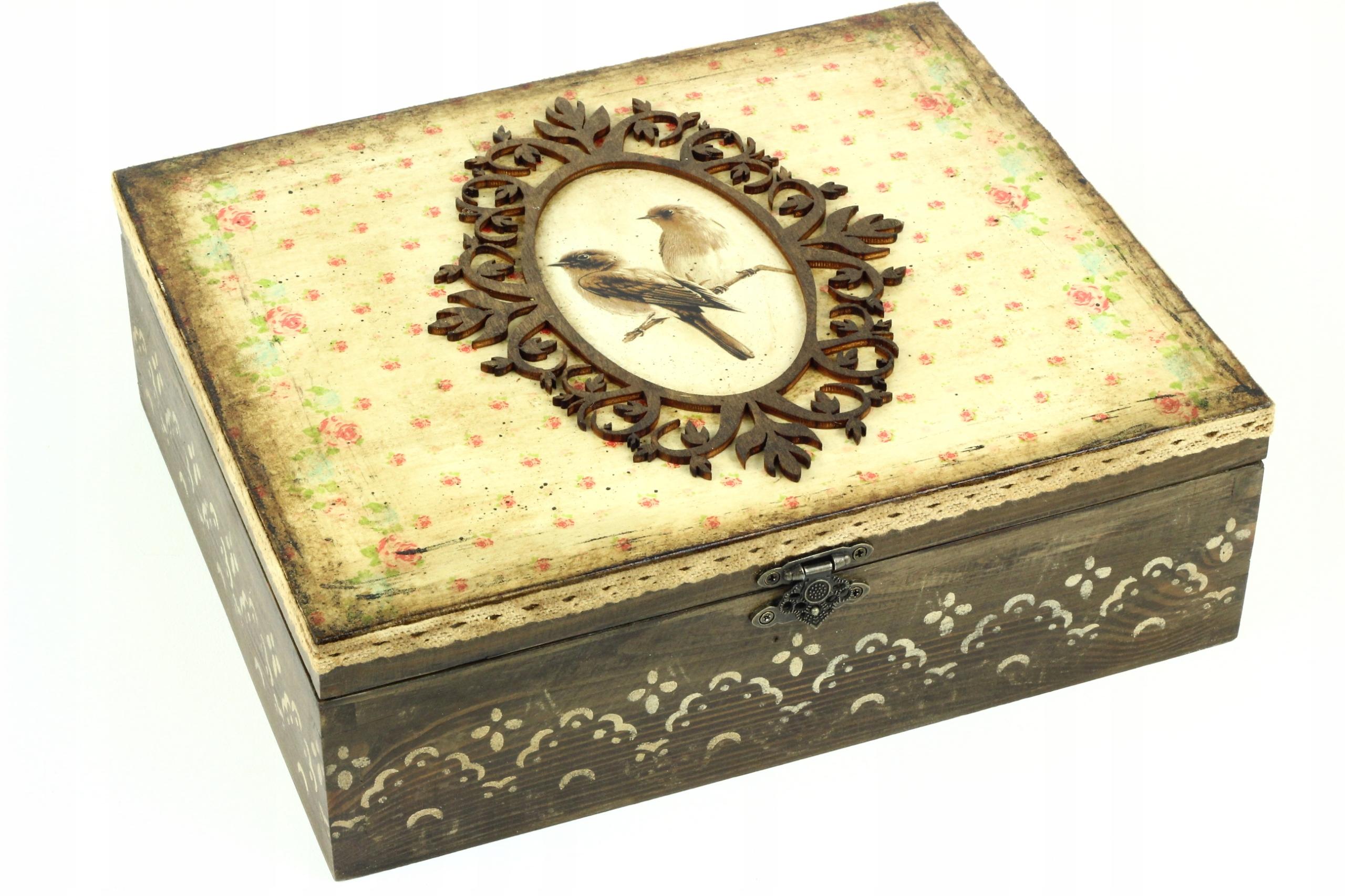 Krásne Drevené Retro Núdzi Box Vtákov