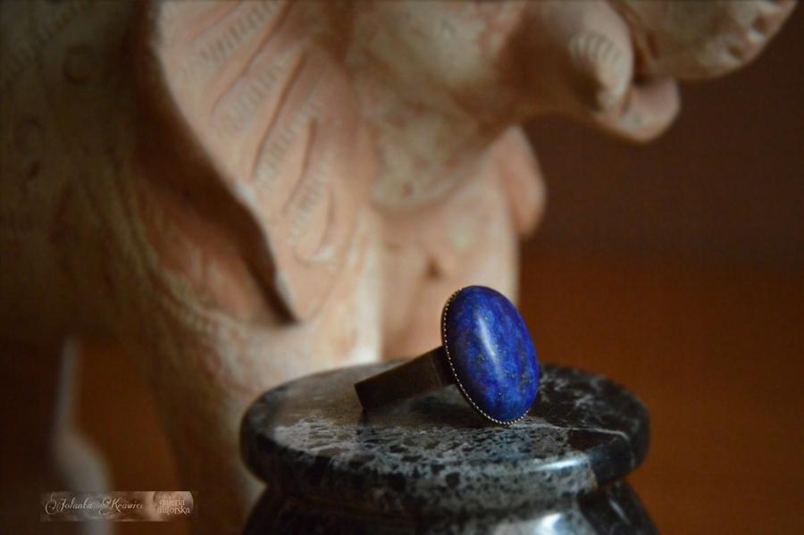 Lapis lazuli Krúžok od ročníka zbierky