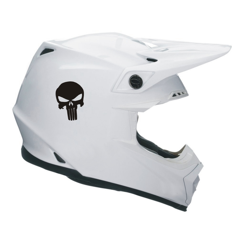 Punisher Skull Helmet Sticker rôzne farby