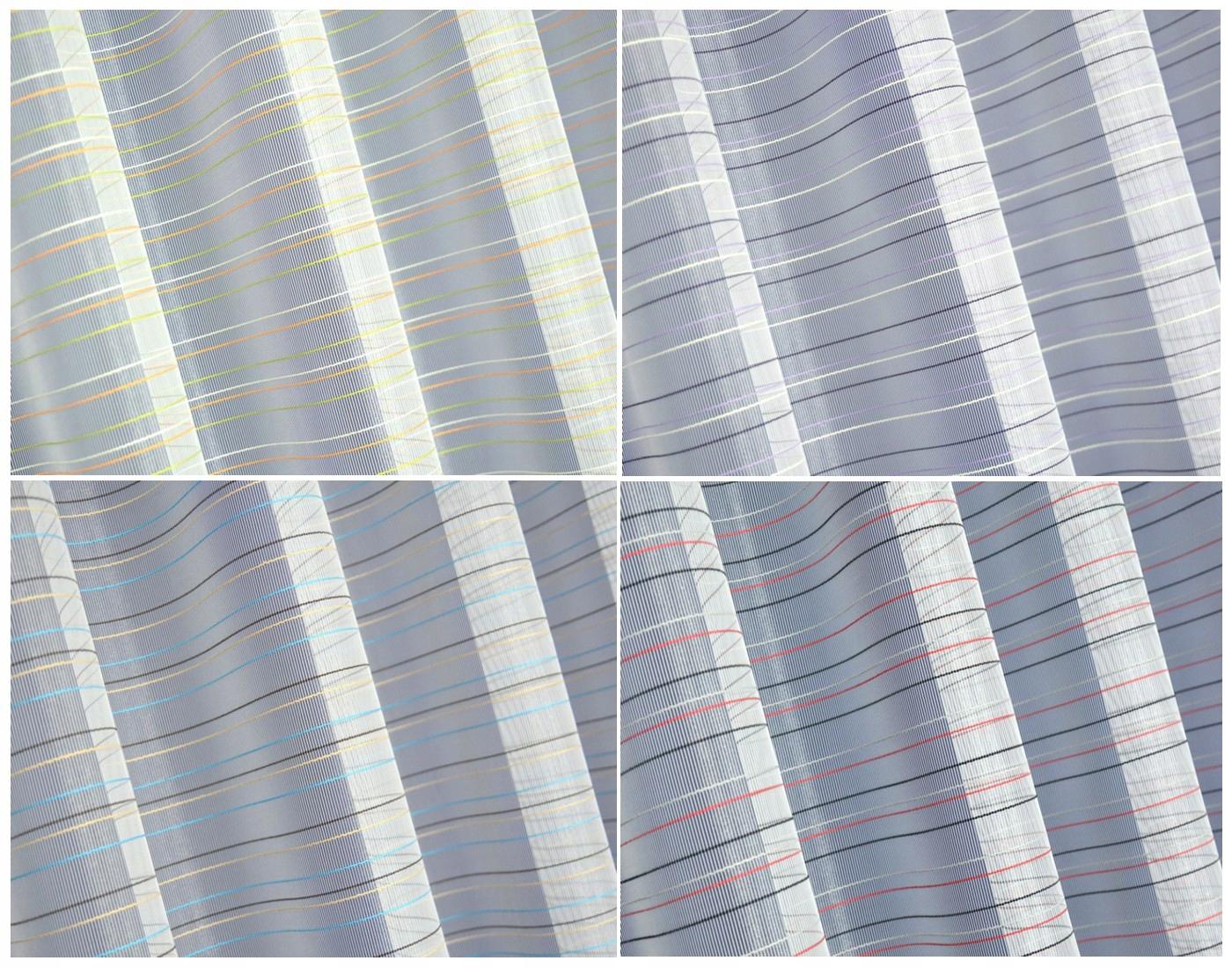 Kolorowe Nowoczesne Firany W Pasy Grif4kolory 3m